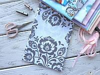 Ткань Хлопок, 40*50 см, Серые цветочки