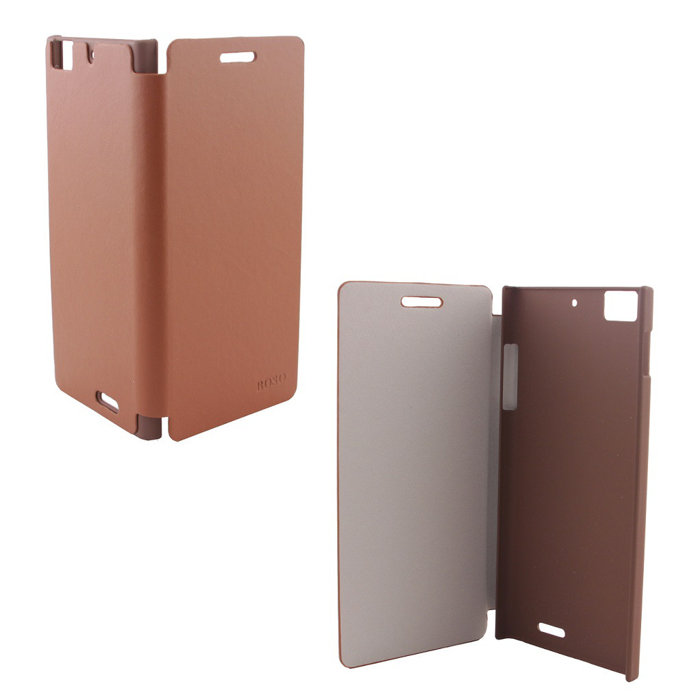 Чехол-книжка для смартфона Lenovo K900 Boso, Brown
