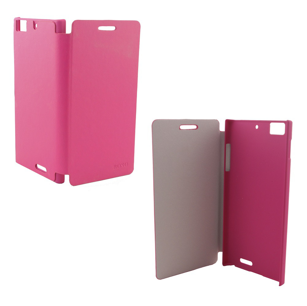 Чехол-книжка для смартфона Lenovo K900 Boso, Pink