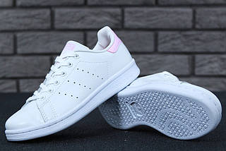 Женские кроссовки в стиле Adidas Stan Smith White Pink, фото 2