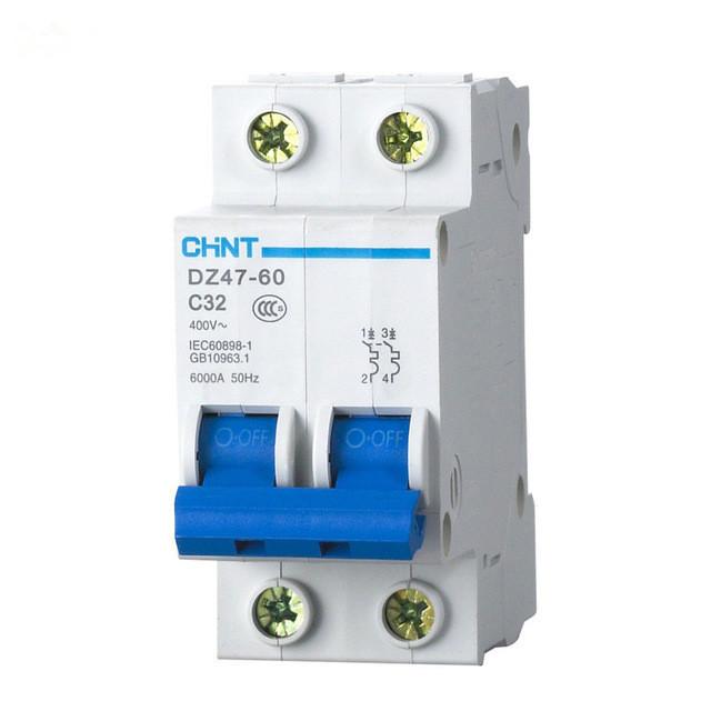 Автоматический выключатель DZ47-60 2P C6