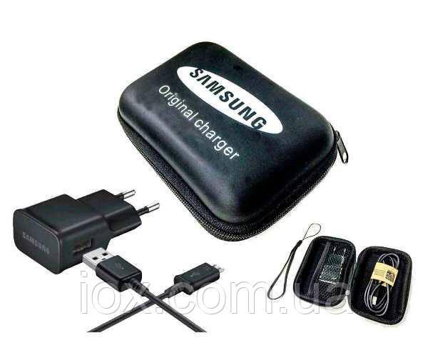 Оригинальное зарядное устройство Samsung с кабелем Micro USB в футляре-органайзере