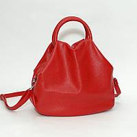 Кожаная сумка модель 31 красный флотар, фото 1