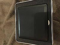 Портсигар из металла обтянутый черной кожой в красивой подарочной коробке
