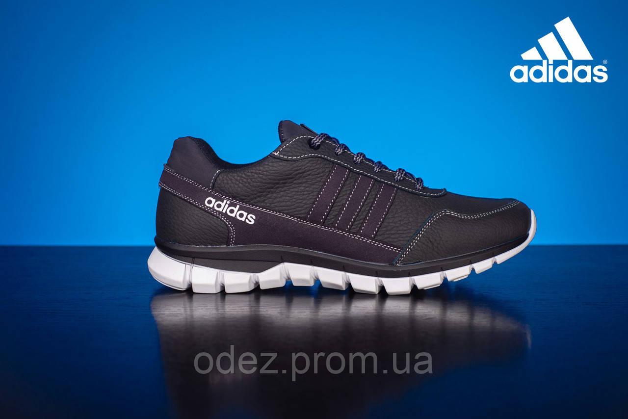 66025584a02a Мужские Кожаные Кроссовки Adidas Черные 23 chern — в Категории