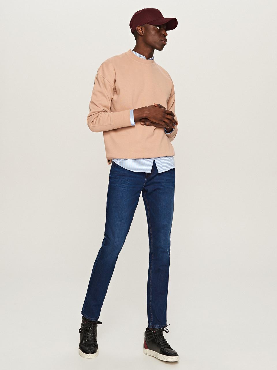 Джинси Reserved - Cиние узкие джинсы мужские скинни  (мужcкие джинсы)