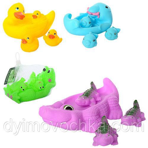 Набор игрушек-брызгалок для ванной 4 штуки 4 вида OSB9901-10-22-24