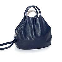 Кожаная сумка модель 31 темно синий флотар, фото 1