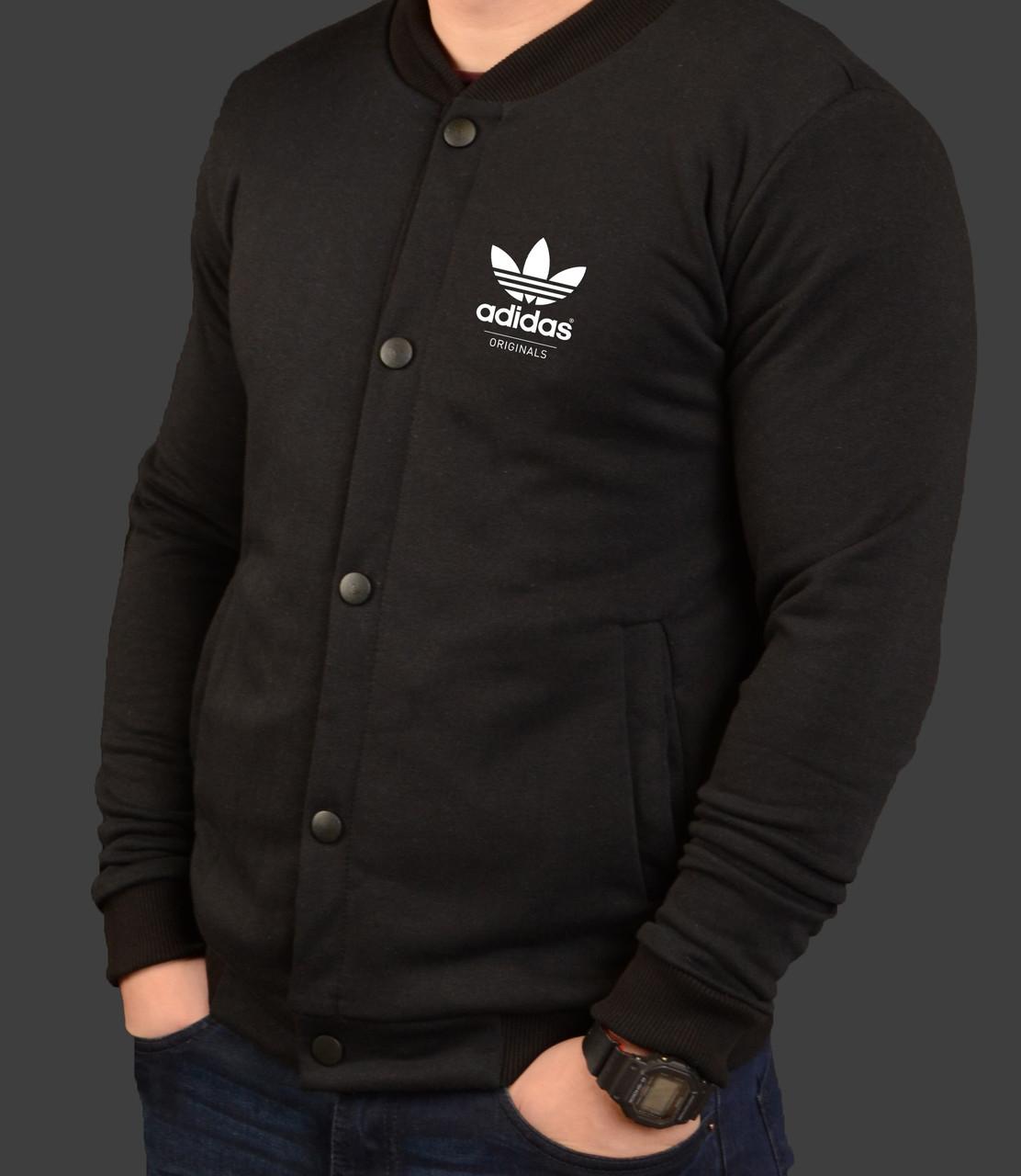 Бомбер мужской черный трикотажный S M L XL Adidas Адидас   продажа ... cf077de141d