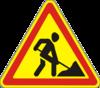 Дорожный знак 1.37 «Дорожные работы».