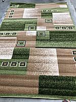 Ковер Фриз прямугольный зеленый 0,8х1,5