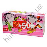 Платочки универсальные двухслойные BELLA Happy 100+50шт