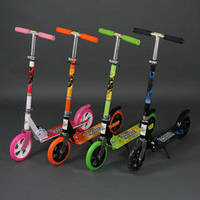 Самокат 109 А (6) 4 цвета, колёса PU, d=20см, /В ЯЩИКЕ 2-розовых, 2-салатовых, 1-чёрный, 1-оранжевый/