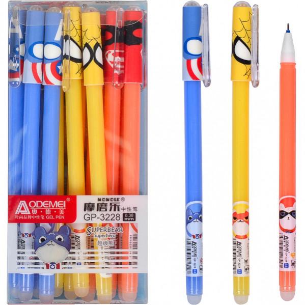 Ручка «пишет-стирает» « Супер герои» 3228 синяя