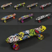 Скейт 820 (8) АБСТРАКЦИЯ, СВЕТ, длина доски 55см, колёса PU - d=6см , фото 1