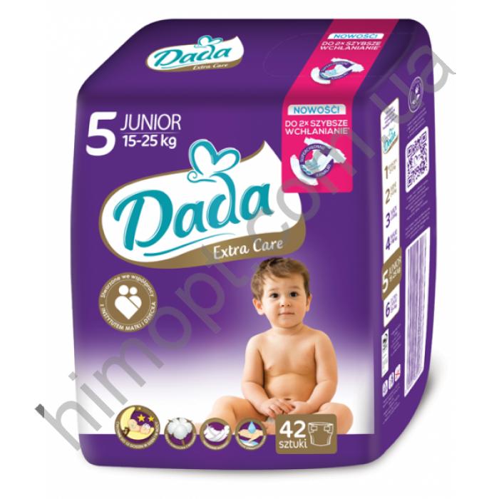 Подгузники Dada Extra Care junior 5 (15-25 кг), 42 шт, цена 219 грн ... b8744db84b7