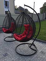 """Подвесное кресло """"Garden"""" Чорне,подвесное кресло, кресло,качеля,садовая качеля.СО СТОЙКОЙ"""