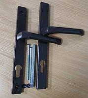 """Ручка на планке """"Clio"""" DHS 92/1 (33) Ral 8019 коричневая"""