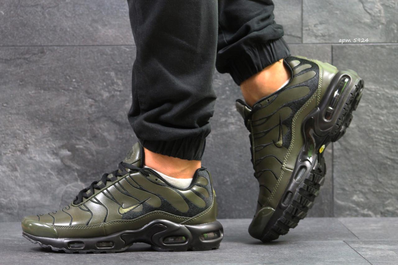 3c0ef74b Мужские кроссовки Nike Air Max TN реплика темно зеленые (пресскожа) -  Интернет-магазин