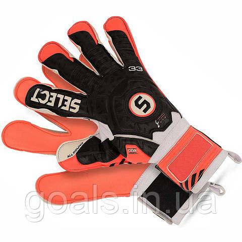Перчатки вратарские Select 33 Allround Оранжевый/Черный/Белый