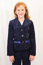 Школьный детский вельветовый костюм ― пиджак, сарафан и брюки