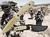 Ніж армійський не складаний 440 G10 з чохлом колір койот (Mil-Tec) Німеччина, фото 5