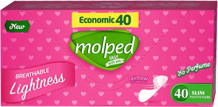 Ежедневные прокладки Molped Daily No Perfume Eco 40 шт
