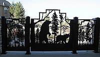 Ворота с уникальным дизайном №2