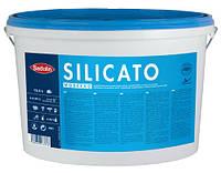 Однокомпонентная силикатная краска SILICATO MODERNO Sadolin, DU1 белый, 12,5л