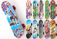 Скейт 1705 / 466-615 А (25) 14 видов, PVC колесо с подшипниками, крепежы для колёс пластмассовые, доска из лис