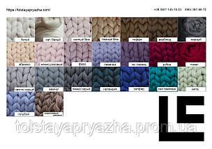 Шерсть меринос для вязания пледов, прядения, валяния №26 (голубой), фото 3