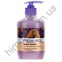 Крем-мыло Fresh Juice Маракуйя и камелия с дозатором, 460мл