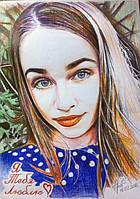 Цветной портрет карандашами на подарок, фото 1