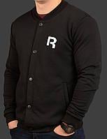 Бомбер мужской черный трикотажный S M L XL Reebok Classic Рибок Классик