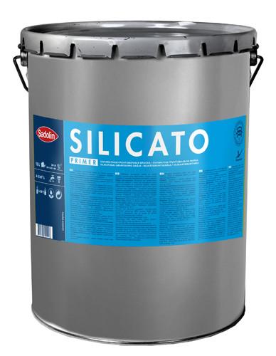 Связующая силикатная грунтовочная краска SILICATO PRIMER Sadolin, бесцветная, 15л
