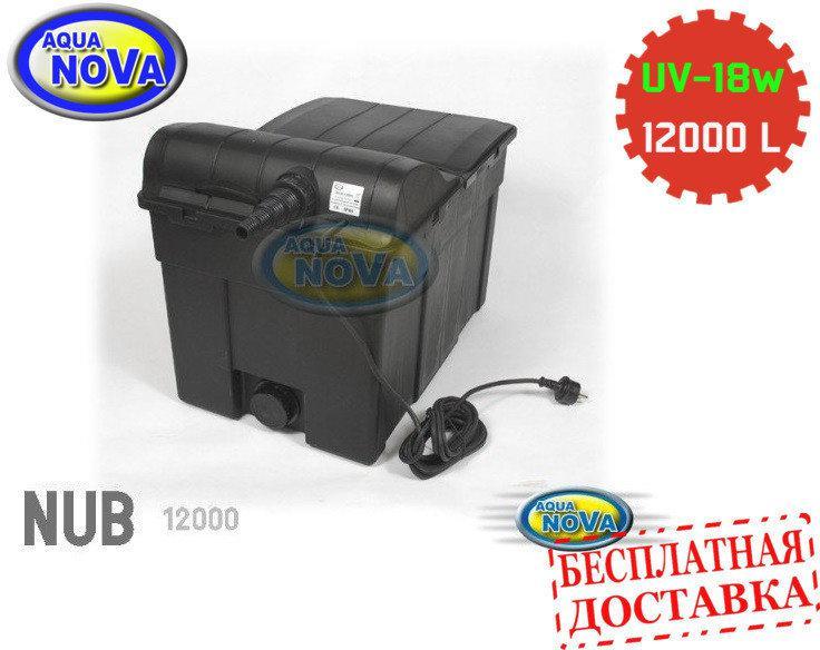 Проточний фільтр для ставка AquaNova NUB-12000 з UVC18 лампою.