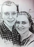 Совместный портрет карандашом, фото 1