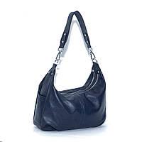 Кожаная сумка модель 34 темно синий флотар, фото 1