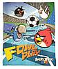 Флисовый плед Angry Birds 120*150см в кроватку, коляску, коврик для игр