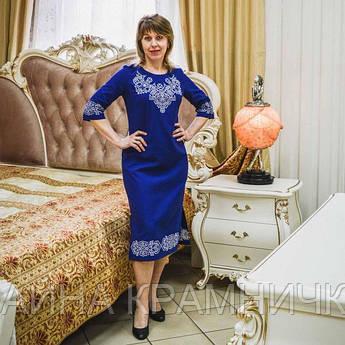 """Сукня-вишиванка """"Вікторія"""" 3/4 рукав рр.44-50"""
