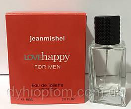 Мини парфюмерия 60ml jeanmishel Love Happy for men оптом