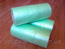 Пакет майка в рулоне 26*45 см 500 шт. в рулонах 12 мкм прочные фасовочные полиэтиленовые пакеты зеленые купить