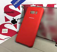 Чехол для Samsung galaxy S8 Plus g955 накладка бампер противоударный Silicone Cover original красный