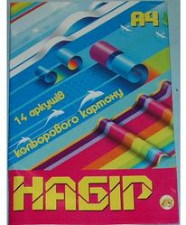Цветной картон А4 14 листов Цветной картон для творчества Цветной картон для детей