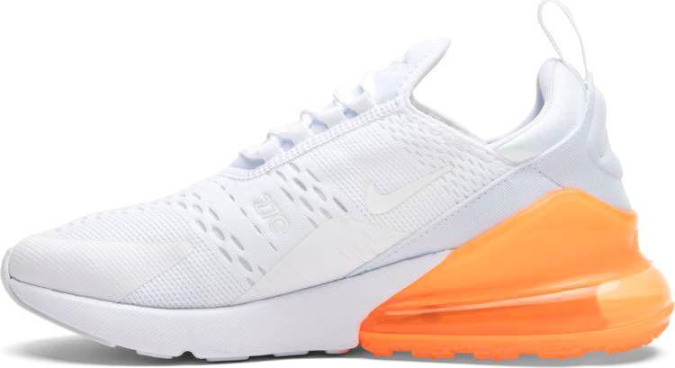 8a165425 Мужские кроссовки Nike Air Max 270 (White / White - Total Orange) - Магазин