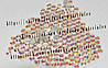 """Стразы стеклянные """"Crystal AB"""" (аналог swarovski) ss12 (3.5 mm)"""