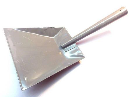 Совок мусорный металлический серый  без ручки