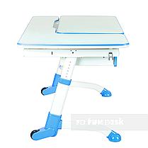 Детская парта для школьника FunDesk Amare Blue с выдвижным ящиком, фото 3