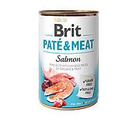 Паштет Brit Brit Pate & Meat Dog Salmon для собак с целыми кусочками лосося и курицы, 400 г