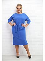 Женское платье на каждый день Афины / цвет электрик / размер 48-72